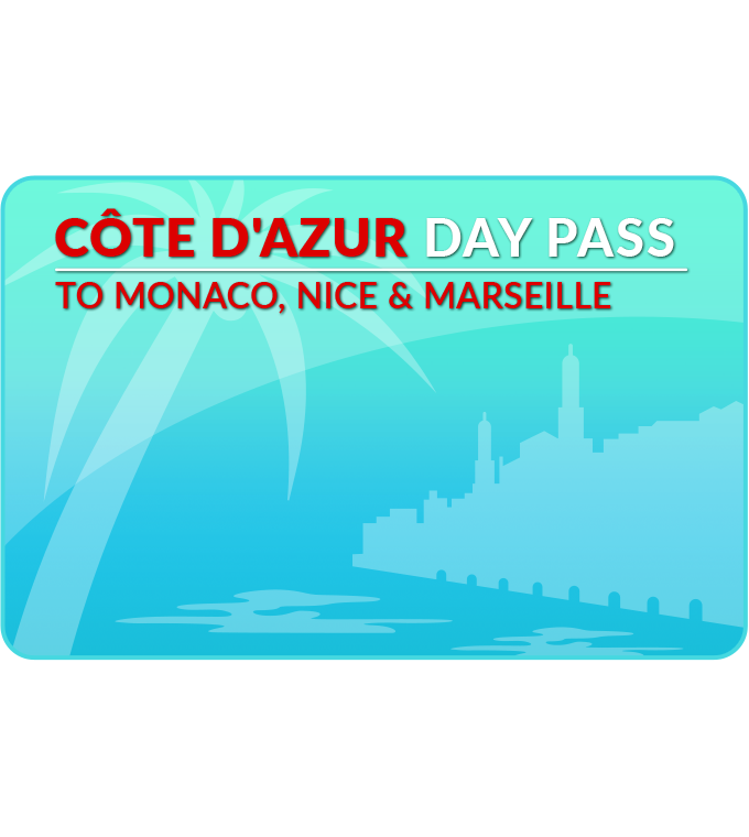 Côte d'Azur Day Pass to Marseille/Nice/Monaco