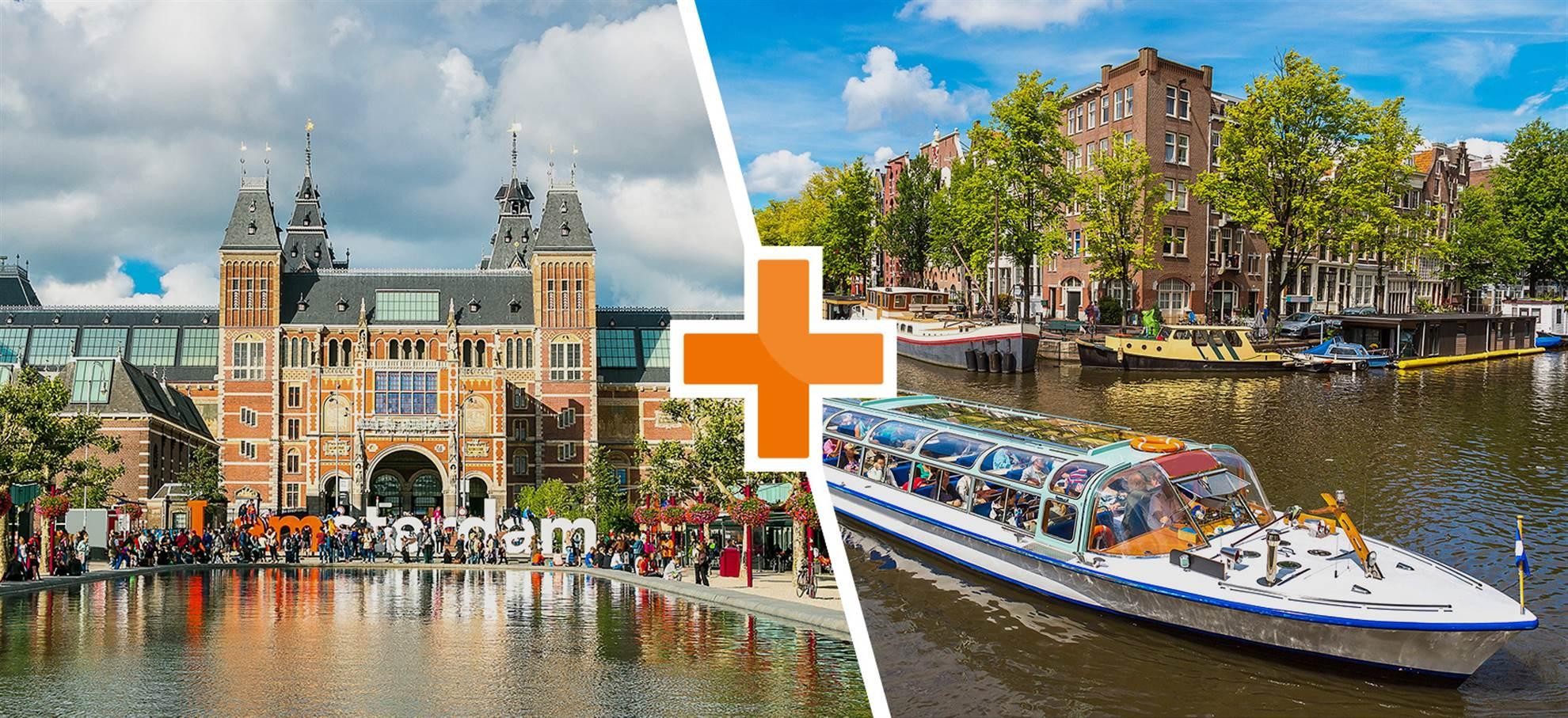 Rijksmuseum y Crucero por los canales