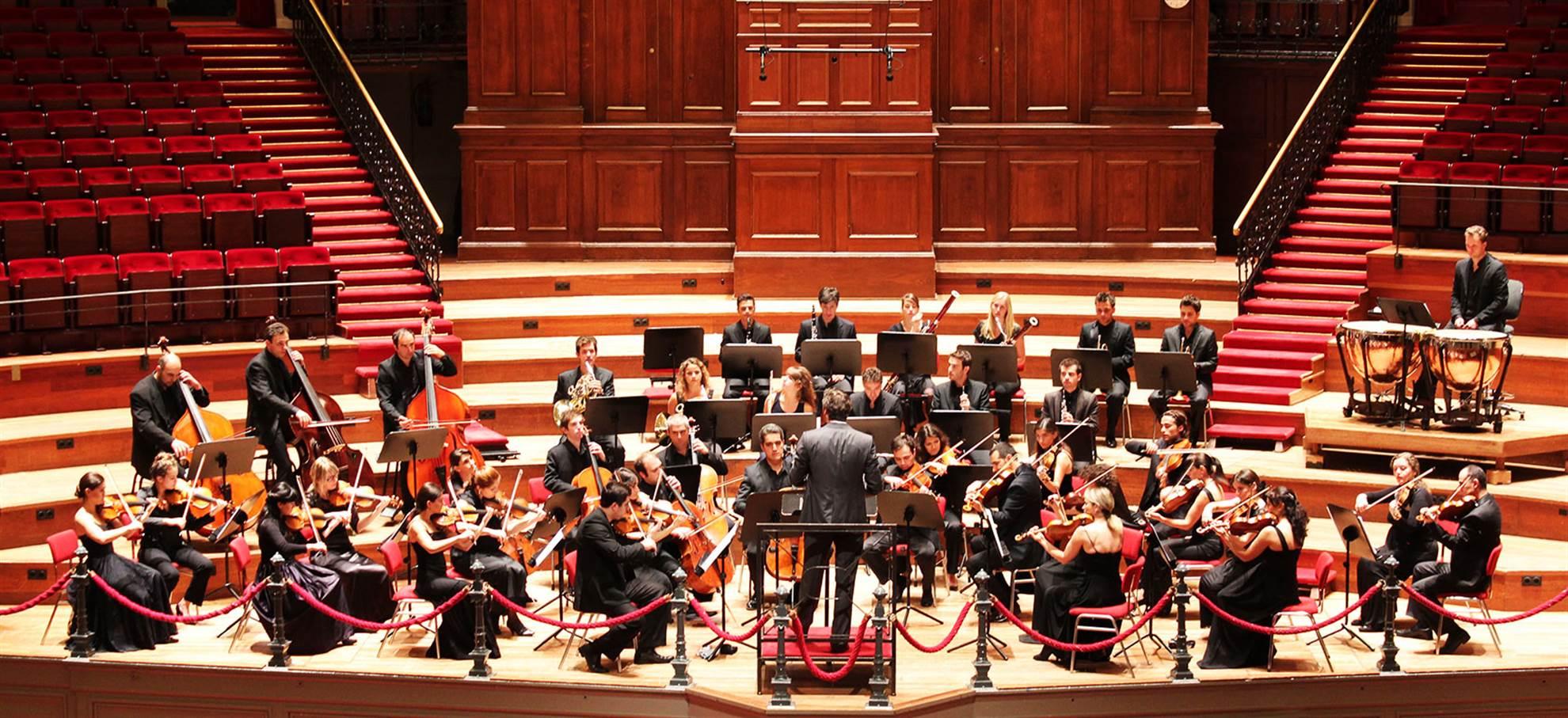 Concert nocturne dans le Concert Hall au Concertgebouw