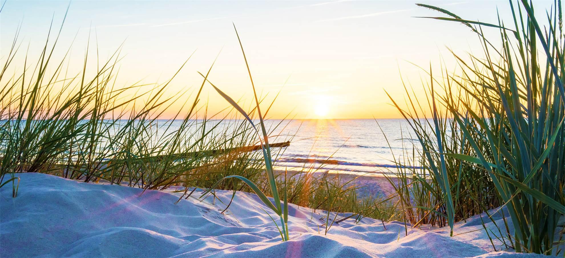 La plage et les dunes: le pays sous le niveau de la mer