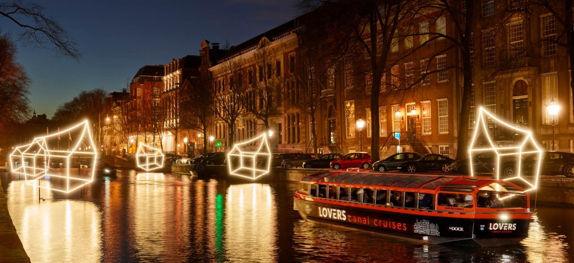 Amsterdam während des großen Licht-Festivals!