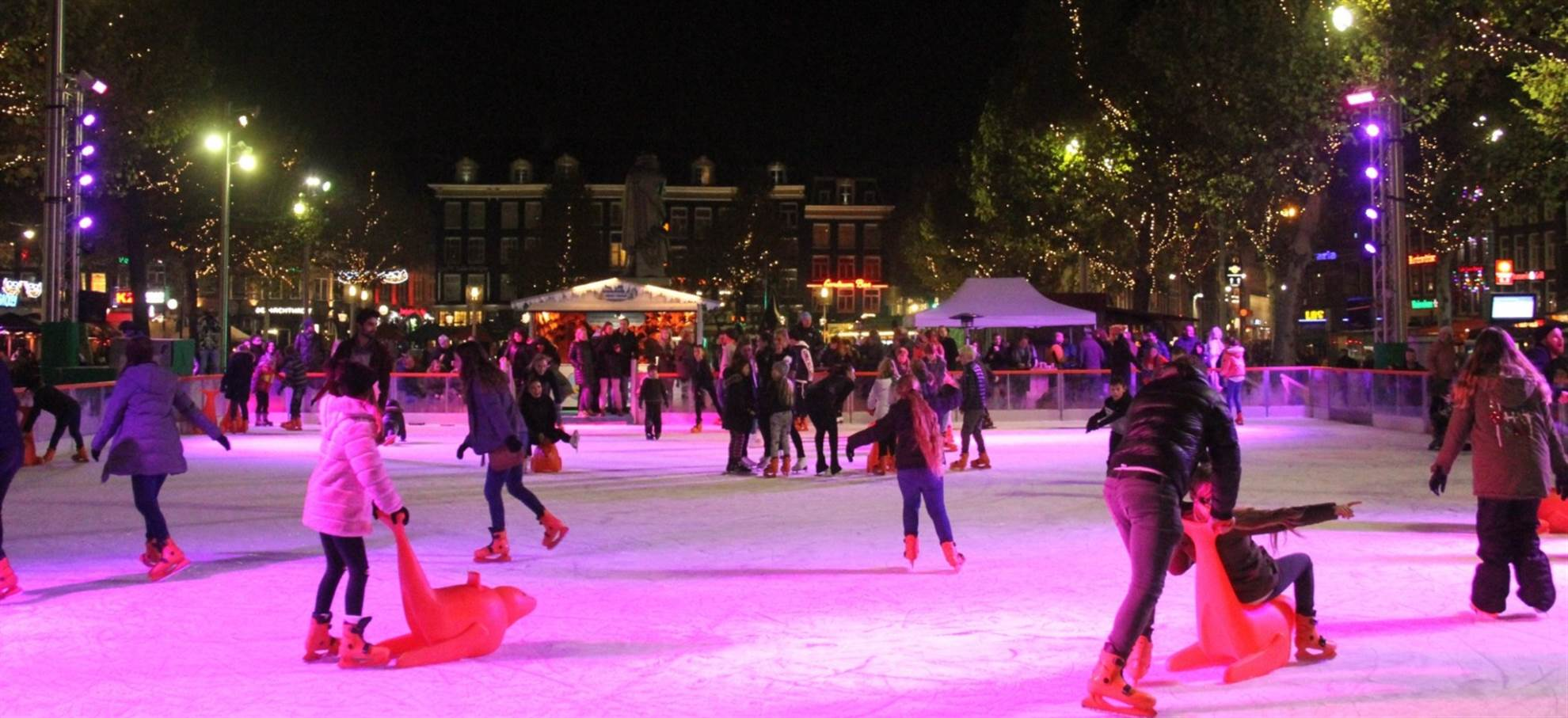 Ice skating on Rembrandt Square