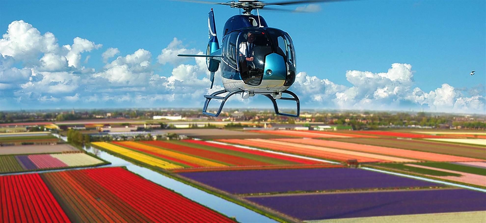 Полёт на вертолёте над полями Кёкенхоф (Активно и доступно для бронирования)