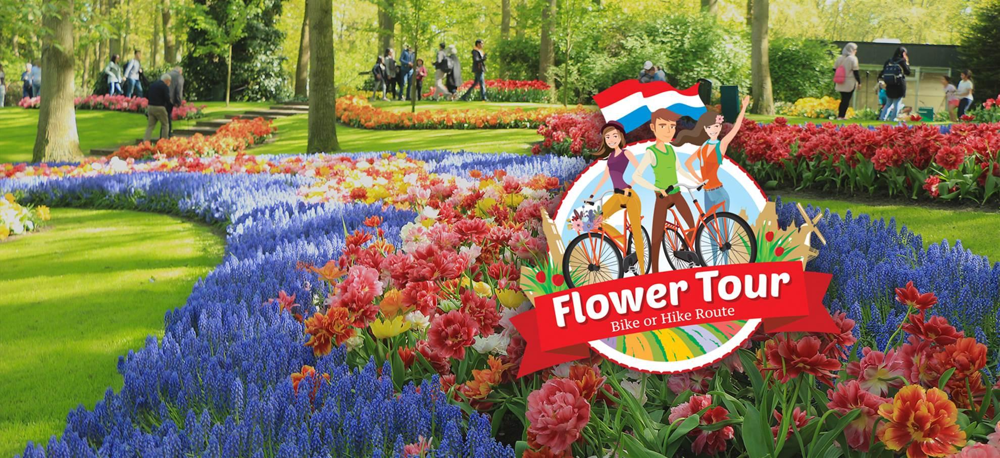 Die Tulpenroute: Radfahren und Wandern entlang der tulpenfelder