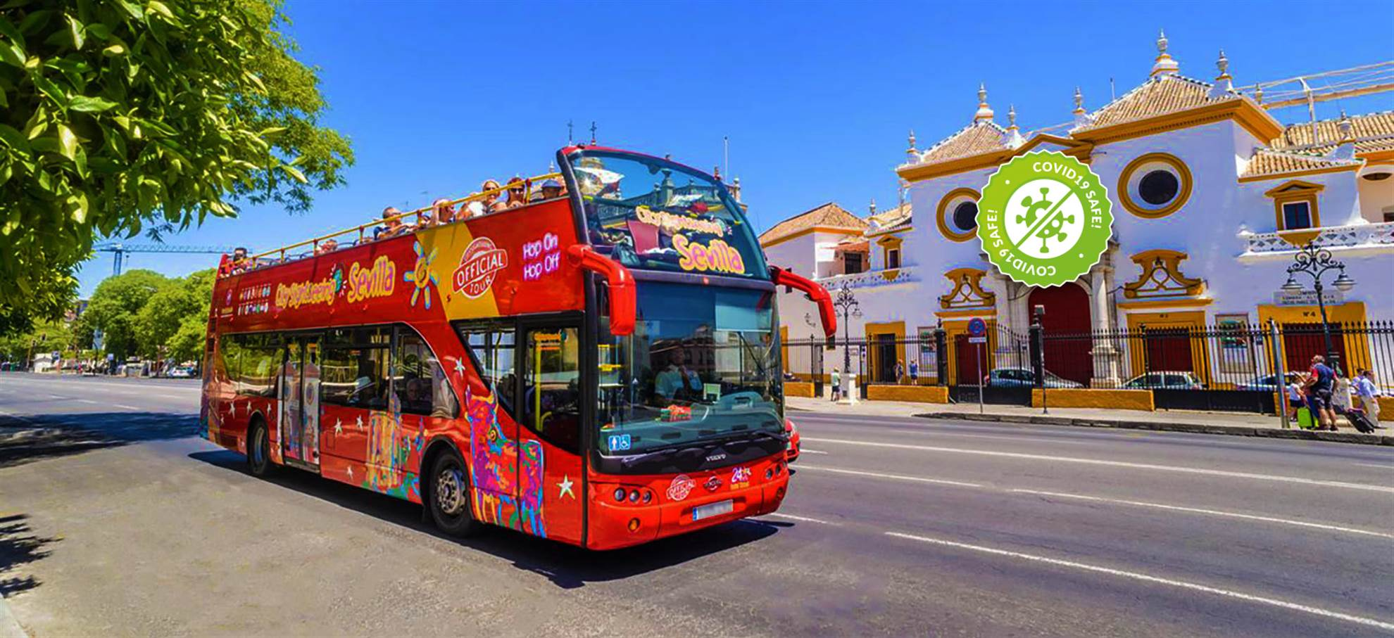 Sevilla Hop on Hop off Bus mit Deutschem Audioguide