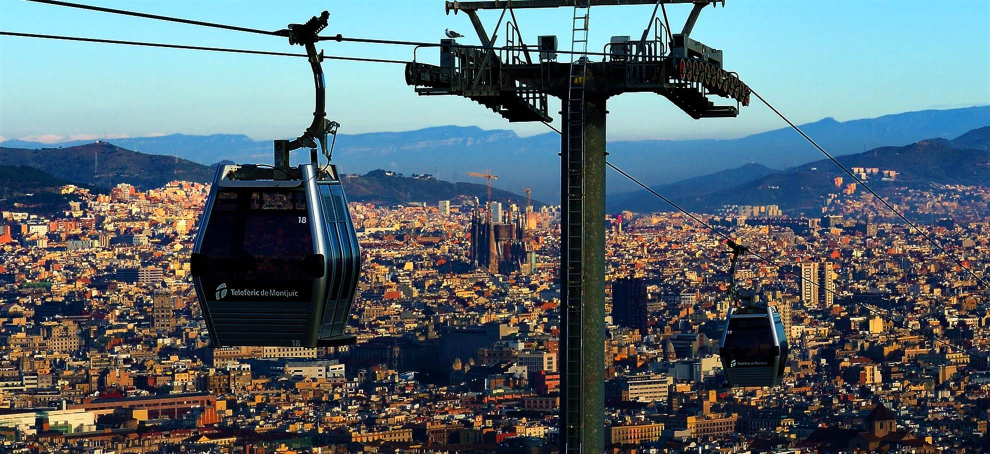 Télécabine  Barcelone - Teleferic de Montjuïc