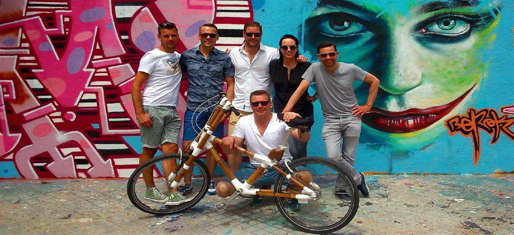 Tour Street Art en vélo de bambou!