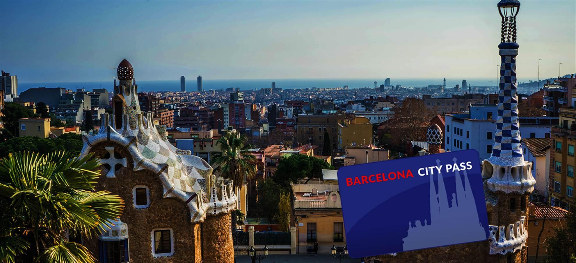 Barcelona City Pass (Inclut la visite de la Sagrada Família en français, l'accès Park Güell)