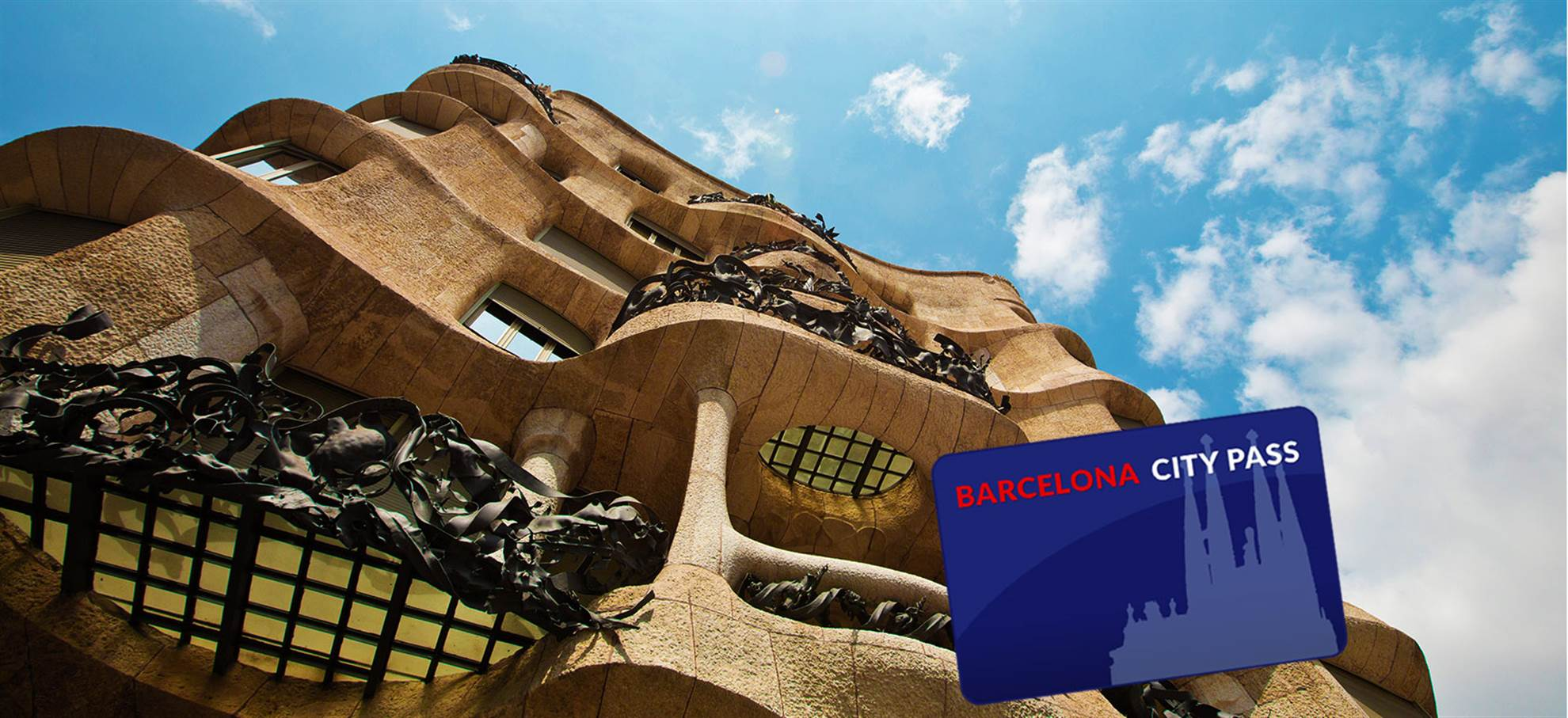 巴塞罗那城市一卡通 (包括圣家族大教堂登塔+语音导览, 古埃尔公园)