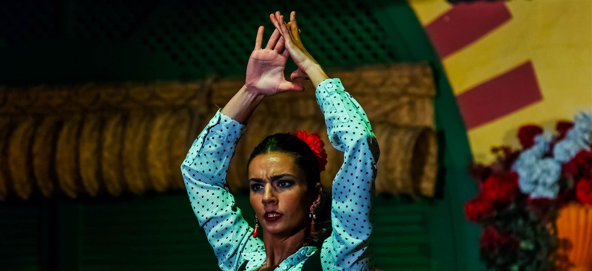 Flamenco-show i stadens centrum