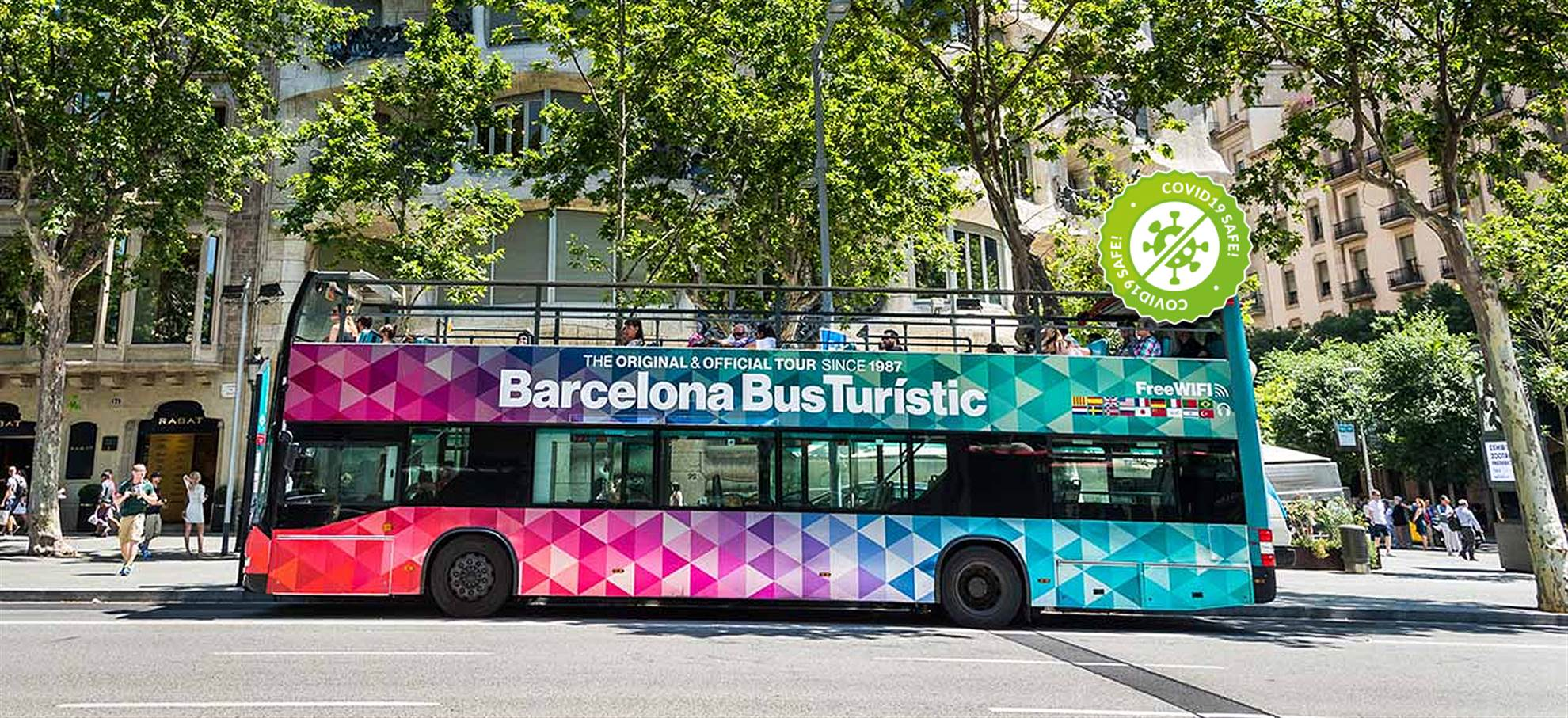 Tickets pour bus touristique de Barcelone