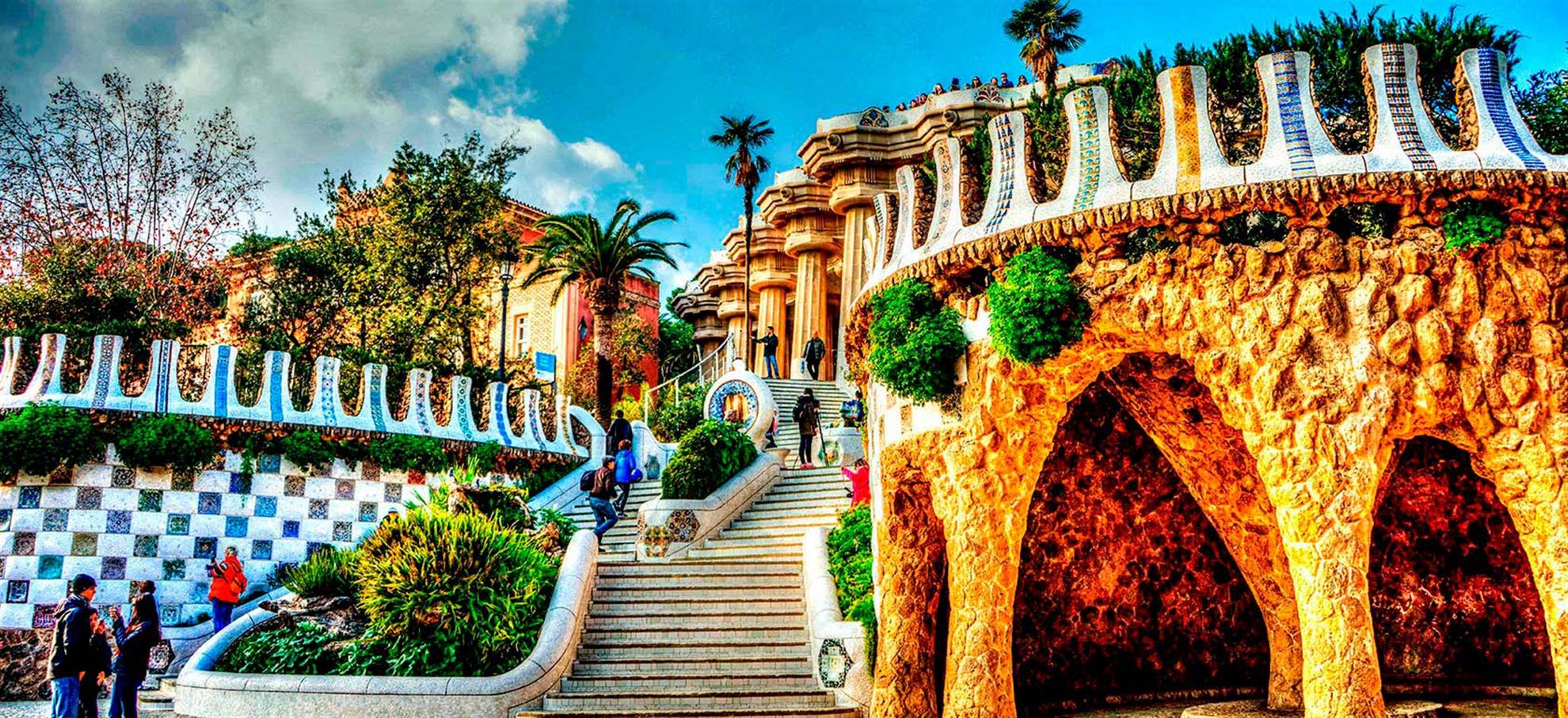 Ticket Park Güell & Billet Bus Touristique