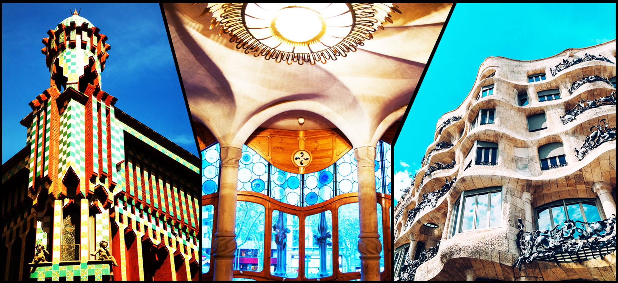 The 3 houses of Gaudi: Direct entrance to Casa Batllo, Mila and Vicens!