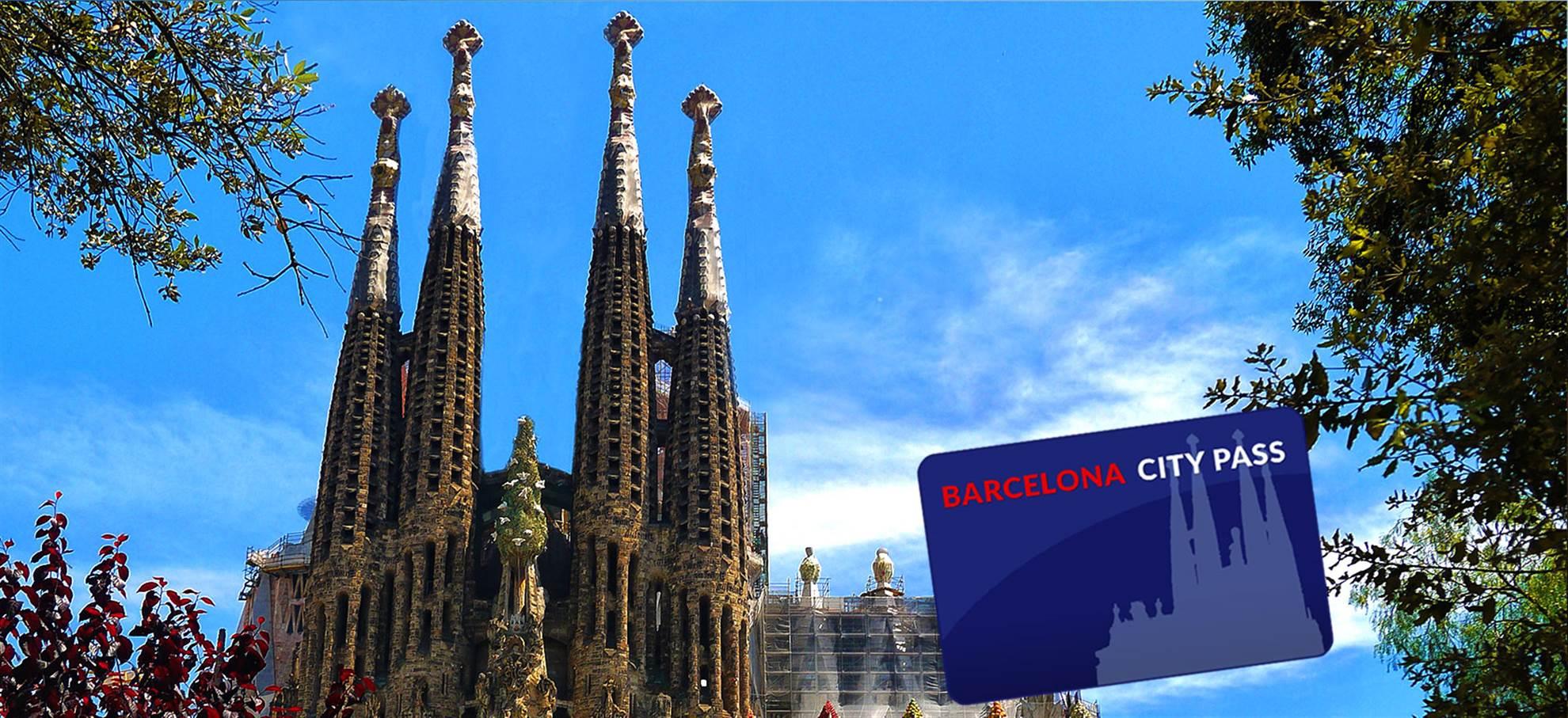 City Pass: Sagrada Familia, Park Güell, Aerobus, autobús turístico + Audioguía