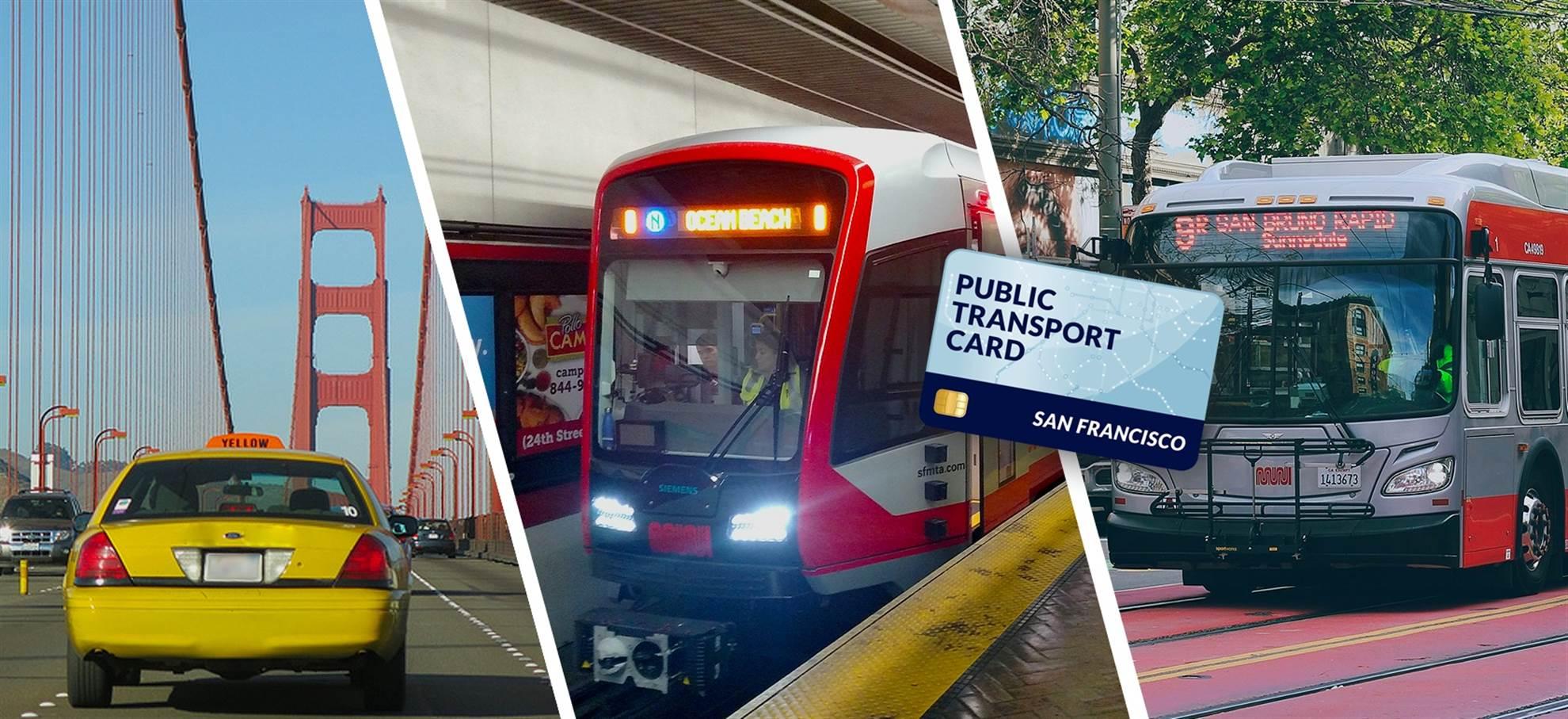 San Francisco Public Transportation Card (+Airport Transfer)