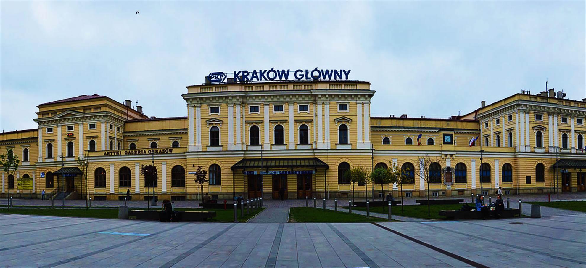 Treno dalla stazione centrale di Cracovia a Oświęcim (Auschwitz)