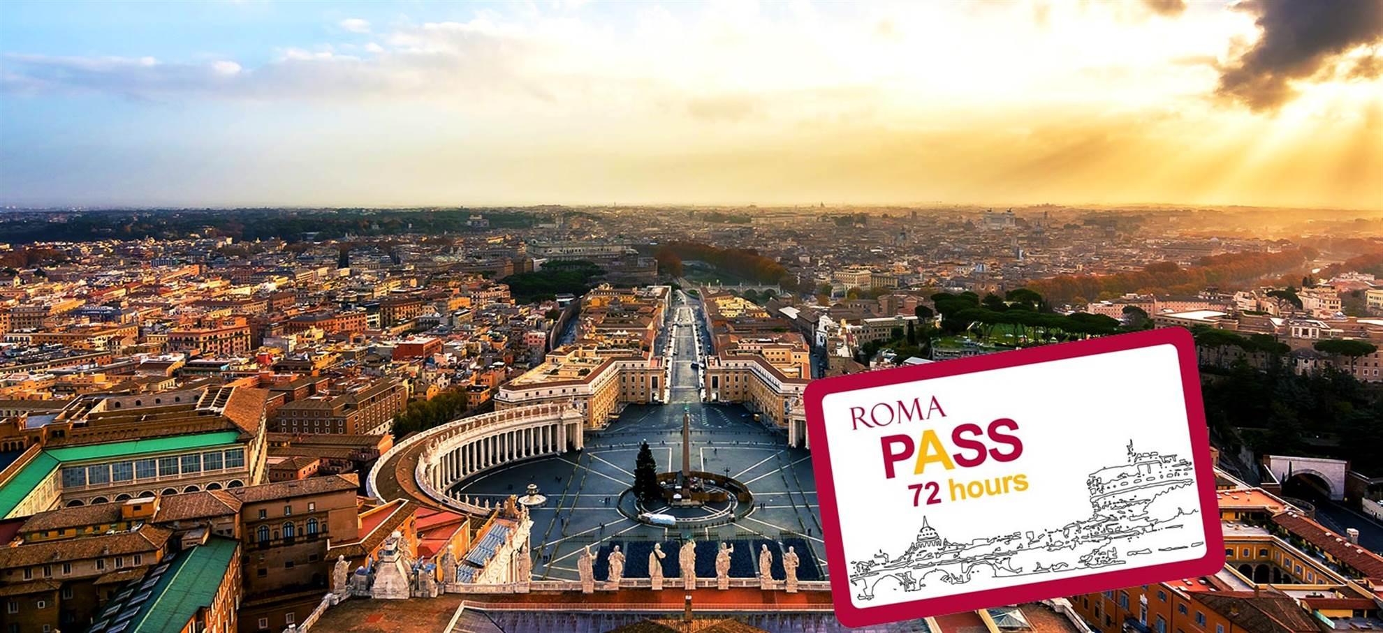 Roma Pass 72h (Bilhetes que evitam filas para St. Peters -opcional)