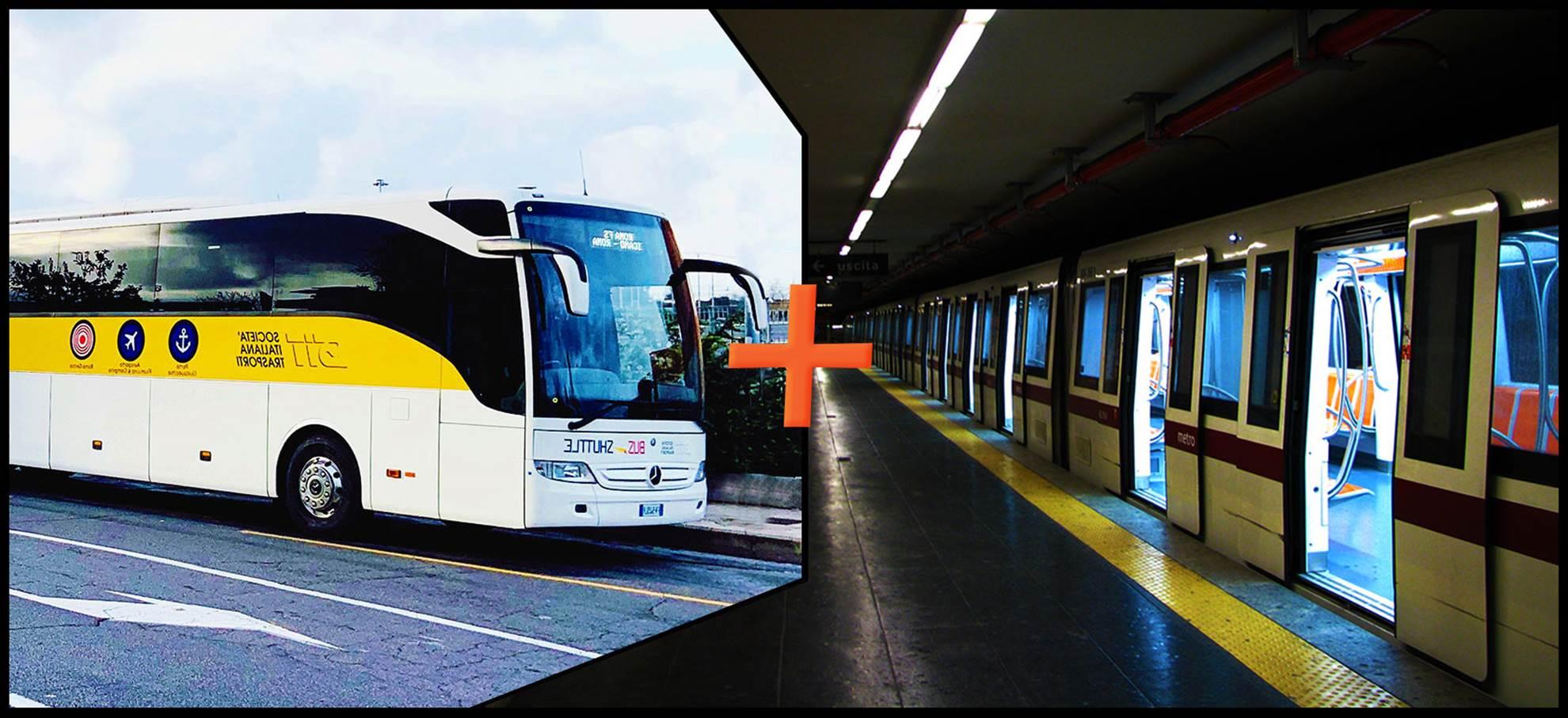 Carte des Transports en Commun de Rome (Bus depuis l'aéroport de Ciampino inclus)