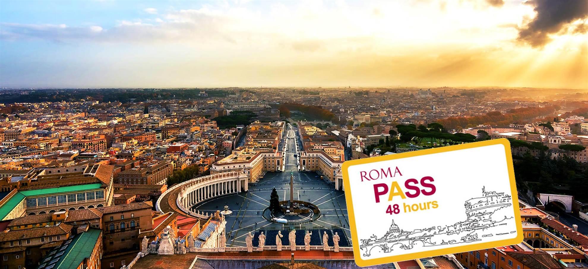 Rom-pass för 48 timmar (inkl. St Peter Biljetter + Audioguide Vatikanstaten och mer)