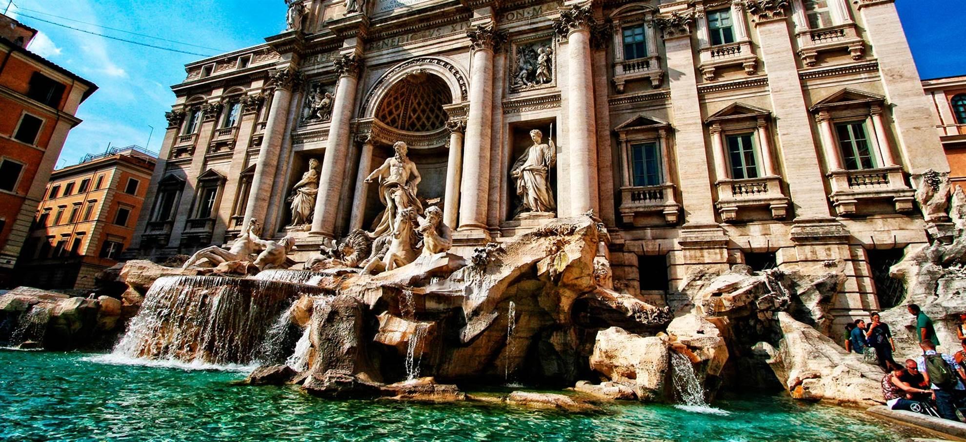 Pantheon,Fontana di Trevi & Roma Barocca