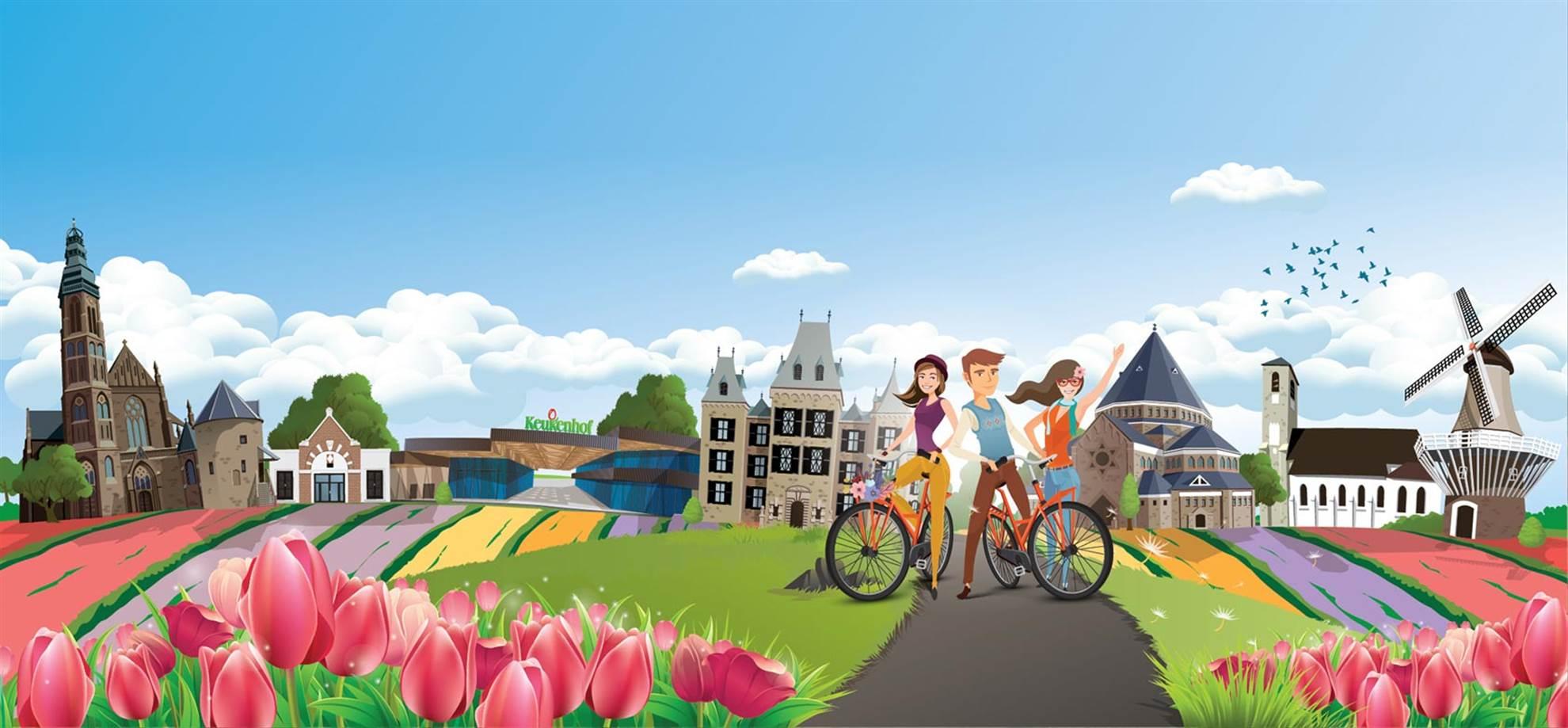 Flower tour around Keukenhof