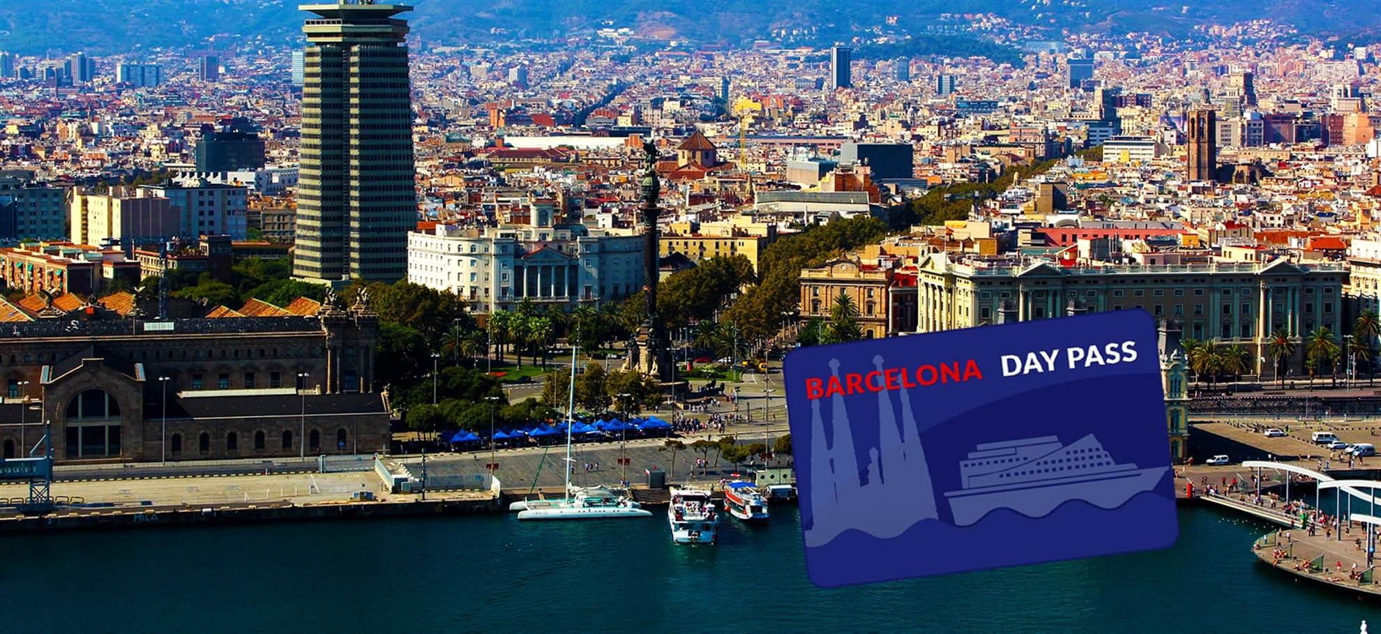 Pass de la ville de Barcelone à partir du port