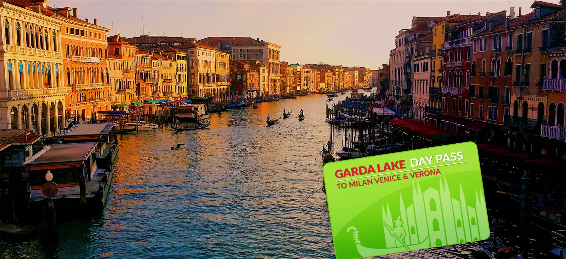 Passaporte Lago Garda Day Pass para Milão/Veneza/Verona
