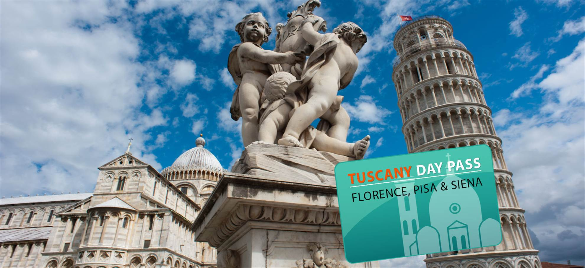 Tuscany Day Pass for Florence, Pisa or Siena