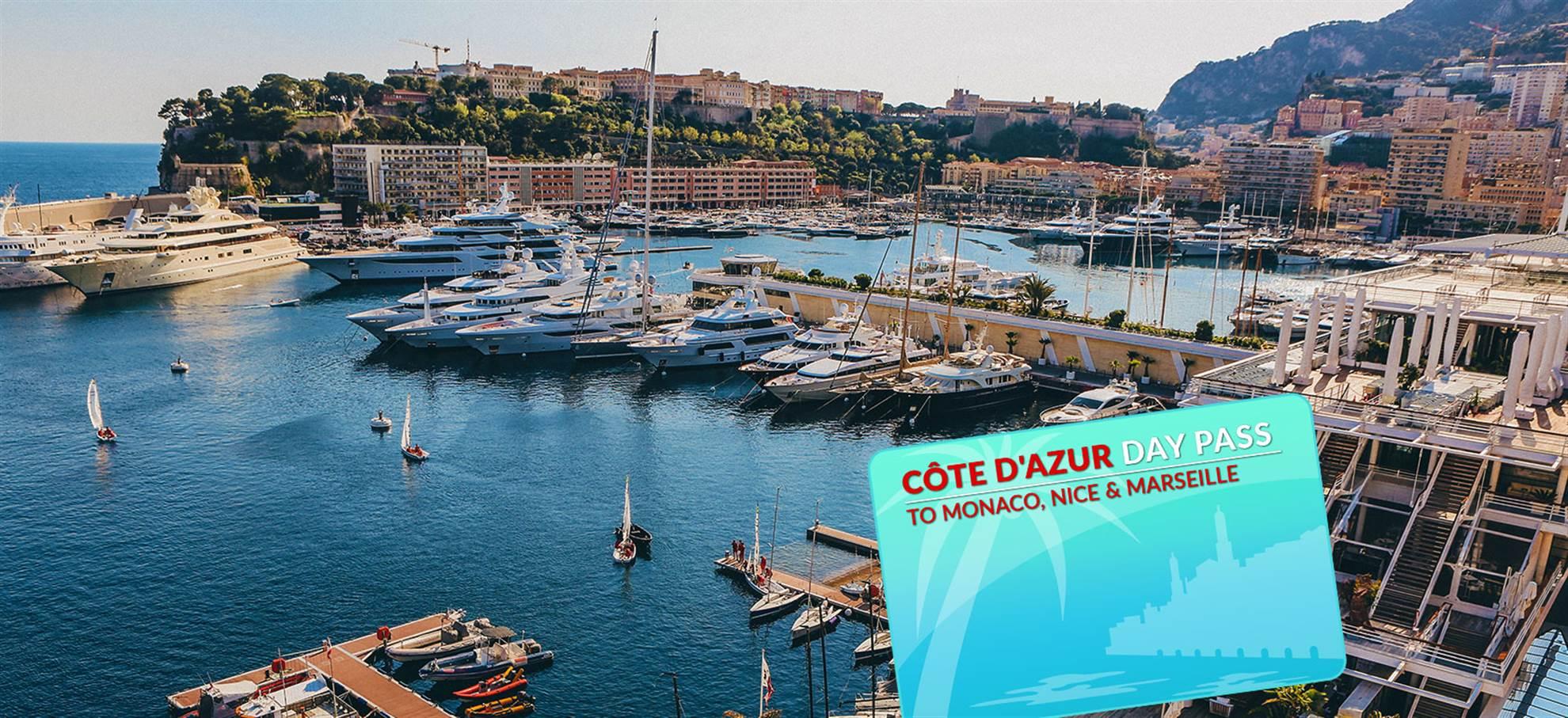 Côte d'Azur Dagpas naar Marseille/Nice/Monaco