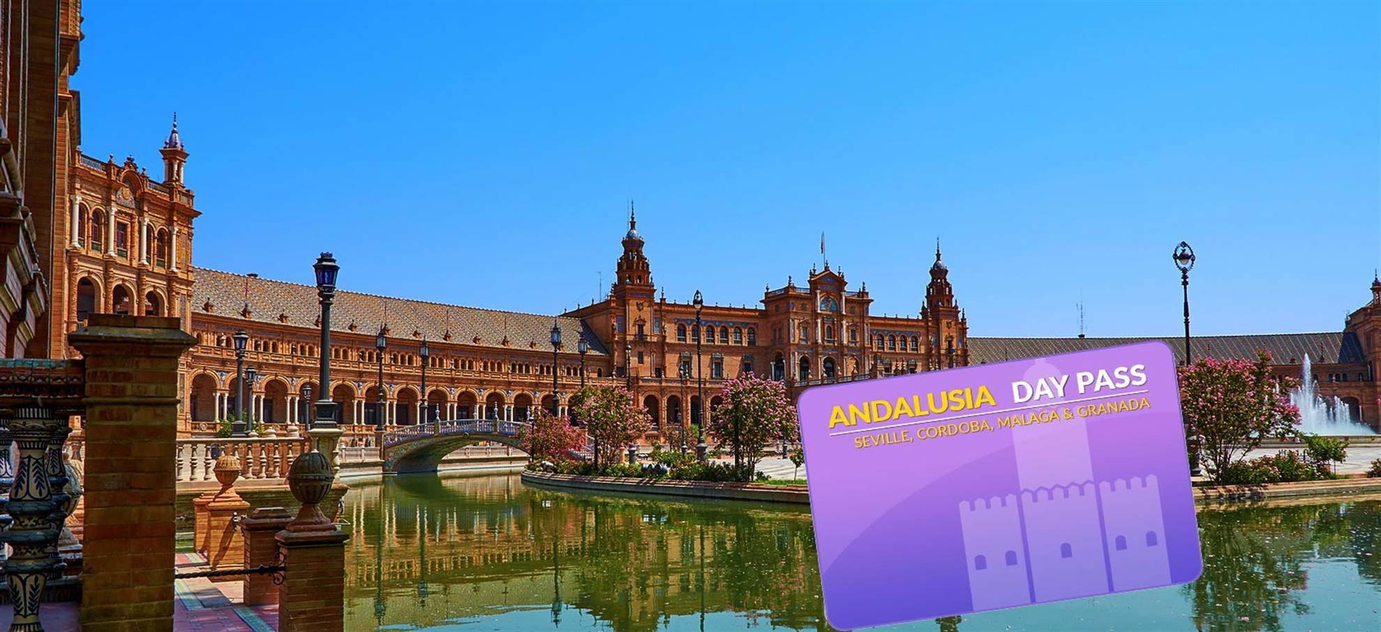Andalusien-Tageskarte nach Sevilla / Cordoba / Malaga / Granada