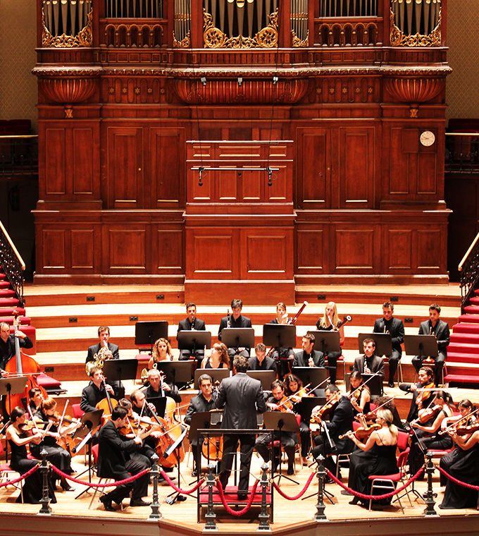 A concert in the world-famous Concertgebouw