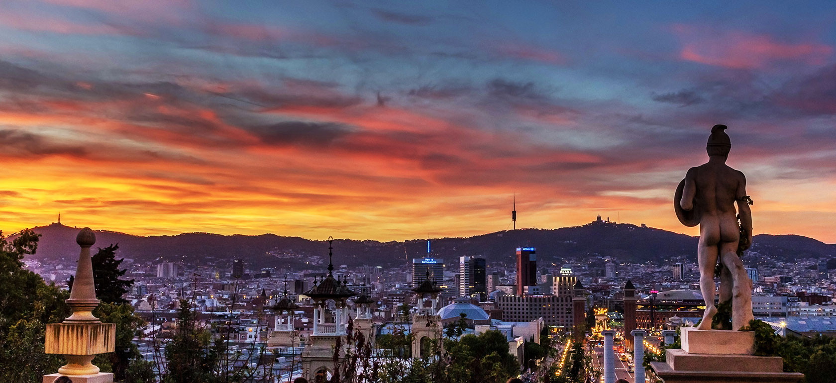 Barcelona at the break of dawn