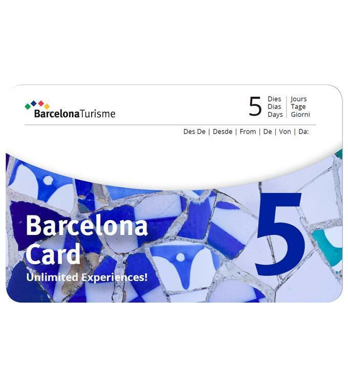 Barcelona Card (Optioneel Sagrada & Park Güell)
