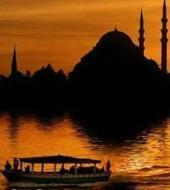 Bosporus Cruise bij zonsondergang