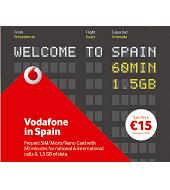 Cartão SIM pré-pago: Vodafone em Espanha