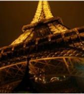 Torre Eiffel, crucero y Paris iluminado