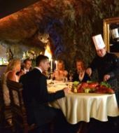 Zes gangen menu in het Saint Clara Restaurant