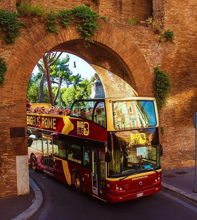 Bus transfer between Civitavecchia cruise port and Rome + Hop on Hop off bus