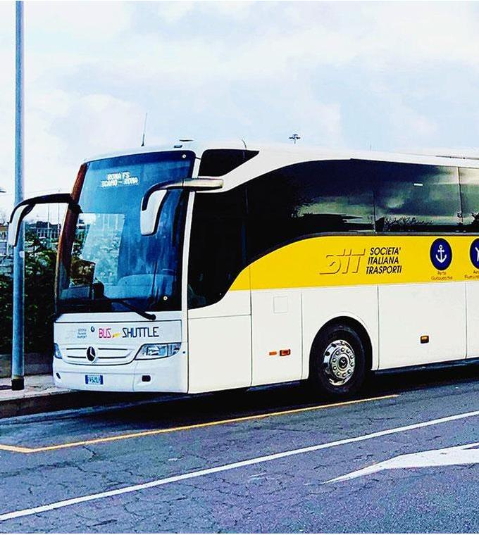 Bus transfer from Civitavecchia Port to Rome