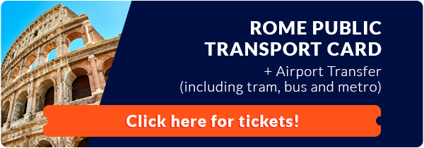 Rome public transport card banner